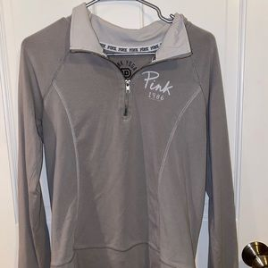 Grey Quarter Zip From Pink